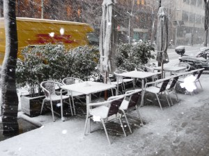 The snow by Bed & Brekafast in Barcelona
