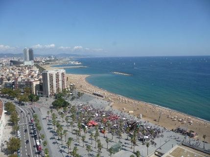 The view from Barcelona's cable shuttle